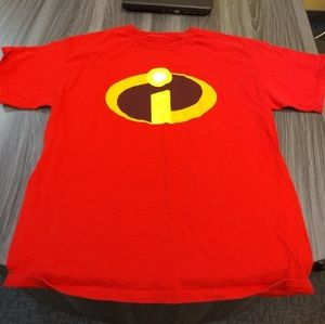 INCREDIBLES T-SHIRT 👕 DISNEY PIXAR LOGO AUTHENTIC